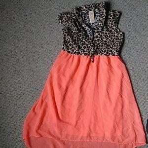 Faded Glory Dresses - Cheetah print girls dress